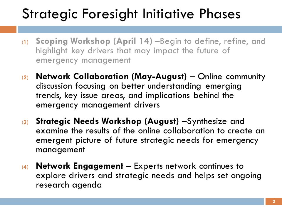 Strategic Foresight Initiative Phases