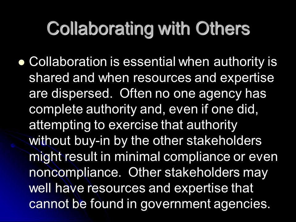 Collaborating with Others