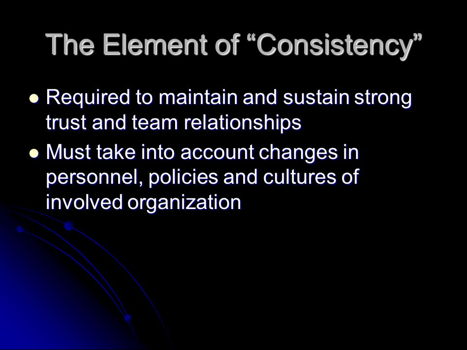 The Element of Consistency