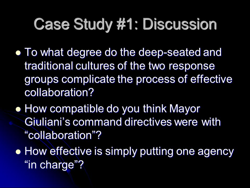 Case Study #1: Discussion