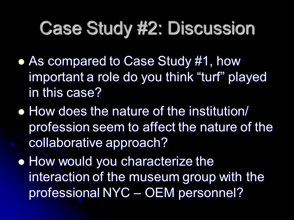 Case Study #2: Discussion