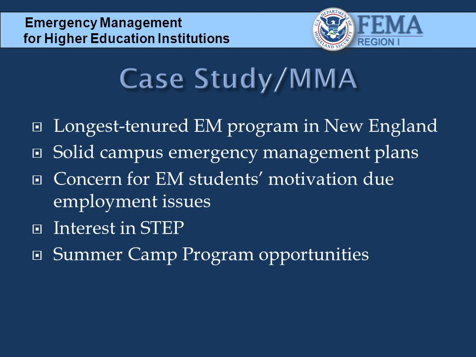 Case Study/MMA Longest-tenured EM program in New England