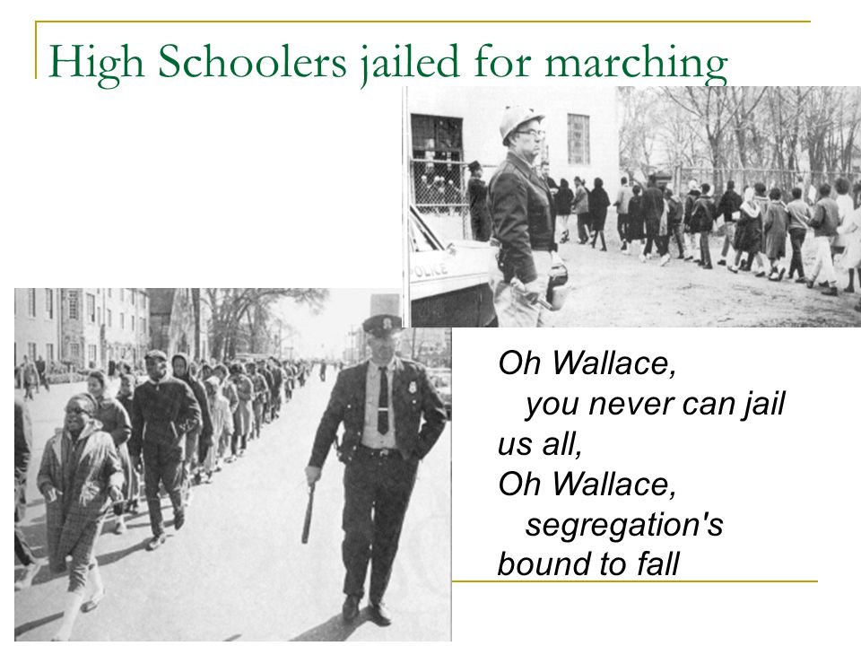 High Schoolers jailed for marching