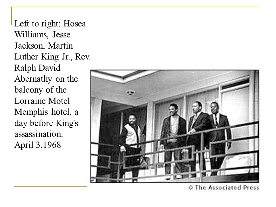 Left to right: Hosea Williams, Jesse Jackson, Martin Luther King Jr
