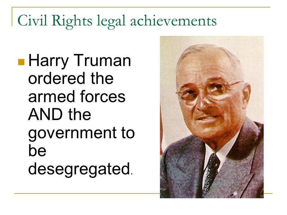 Civil Rights legal achievements