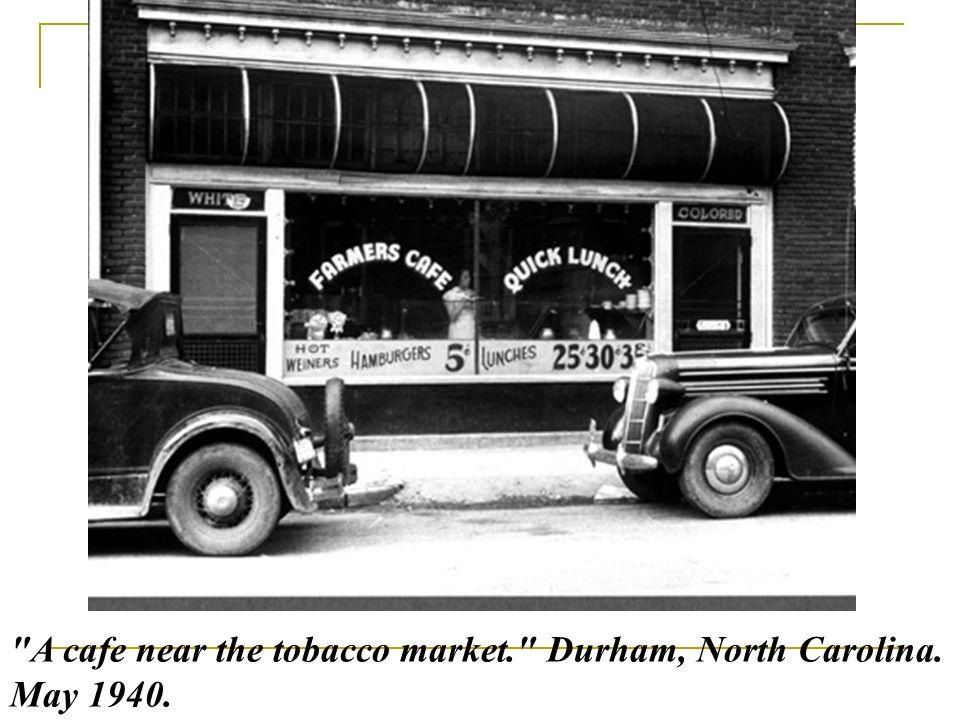 A cafe near the tobacco market. Durham, North Carolina. May 1940.