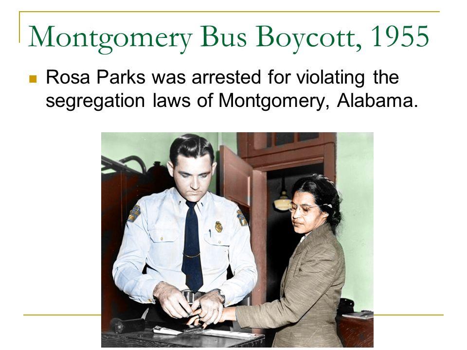 Montgomery Bus Boycott, 1955