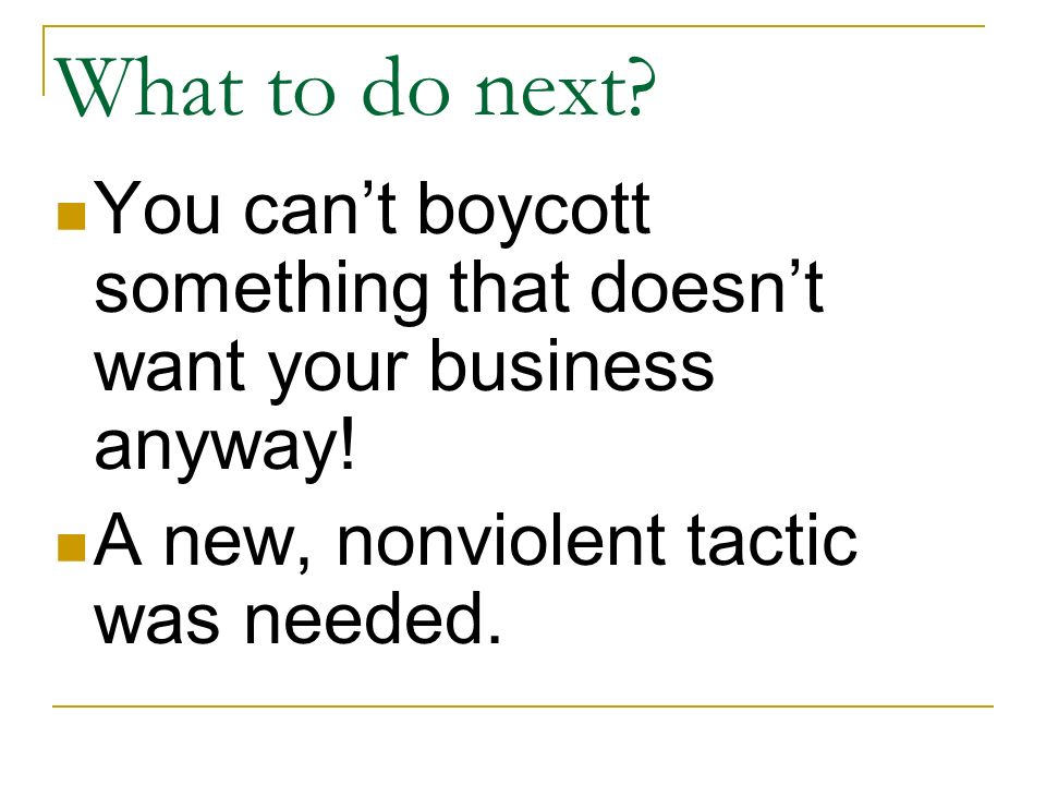 What to do next. You can't boycott something that doesn't want your business anyway.