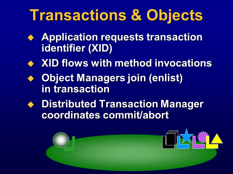 Transactions & Objects
