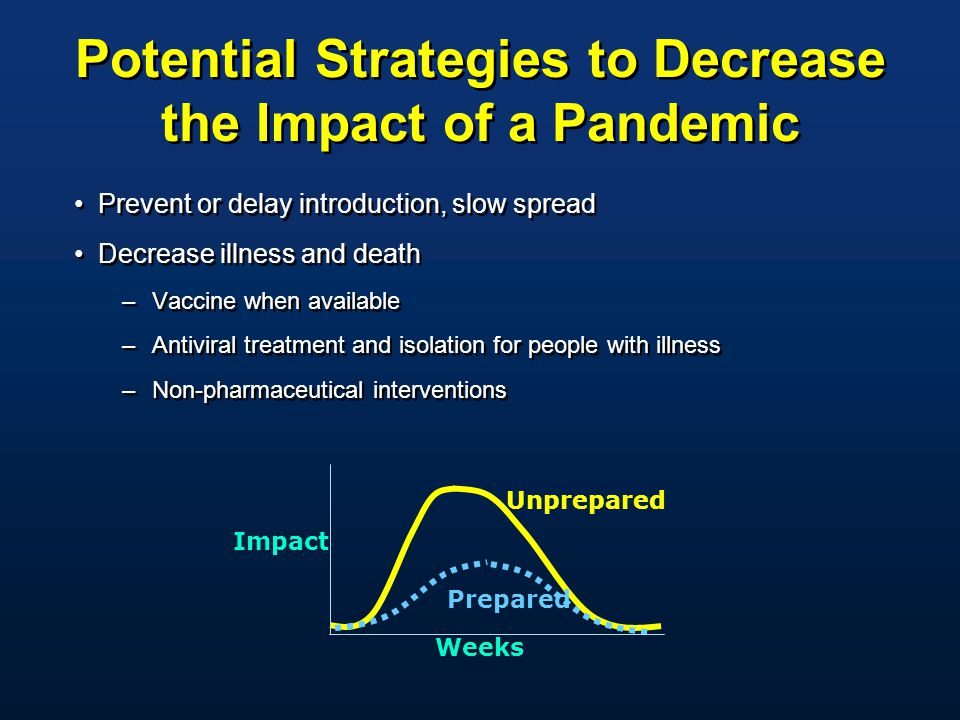 Potential Strategies to Decrease the Impact of a Pandemic