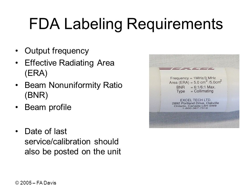 FDA Labeling Requirements