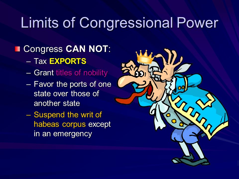 Limits of Congressional Power