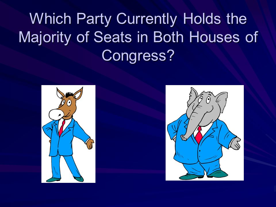 Which Party Currently Holds the Majority of Seats in Both Houses of Congress