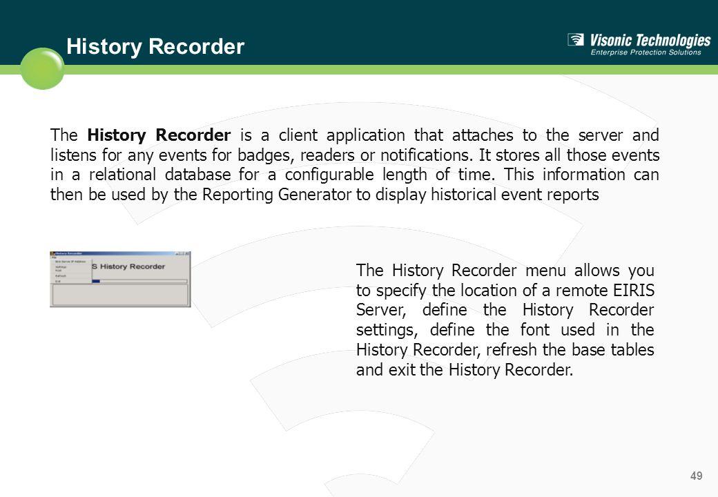 History Recorder