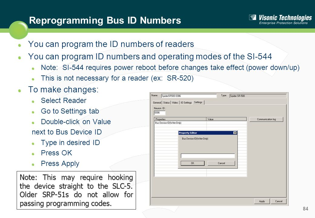 Reprogramming Bus ID Numbers