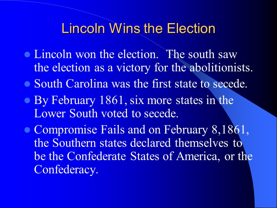 Lincoln Wins the Election