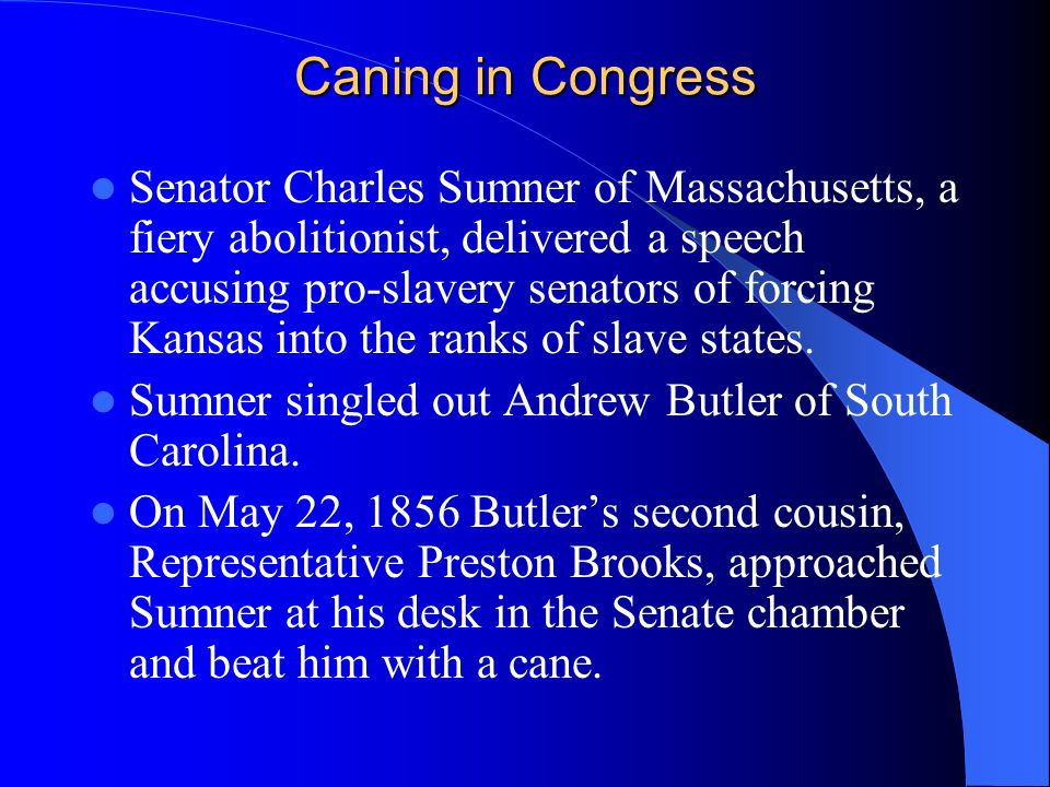Caning in Congress