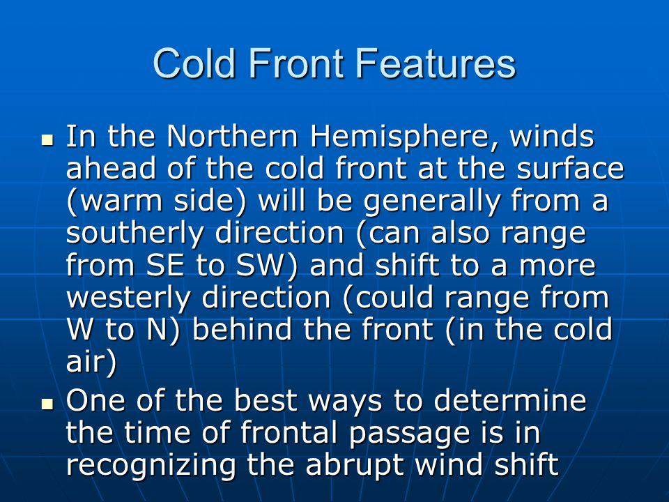 Cold Front Features
