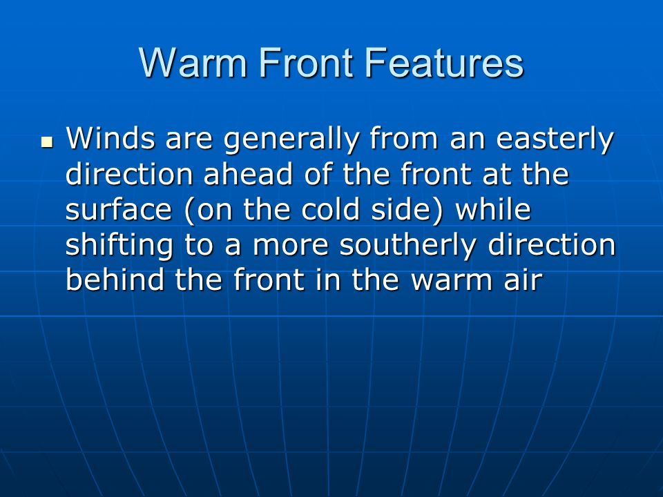 Warm Front Features