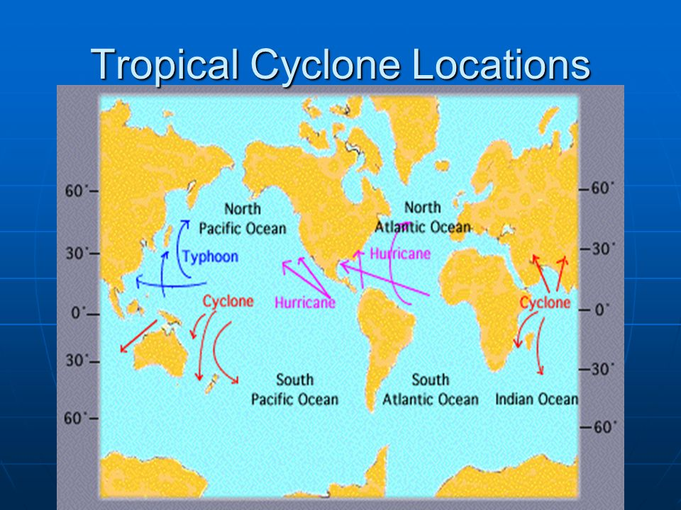 Tropical Cyclone Locations
