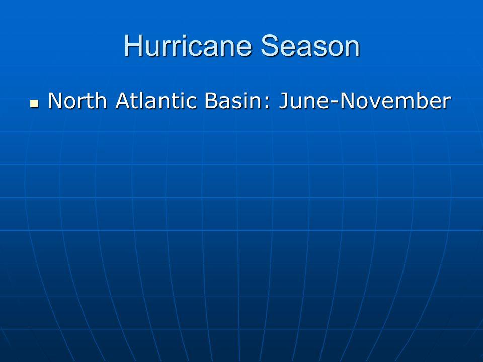 Hurricane Season North Atlantic Basin: June-November