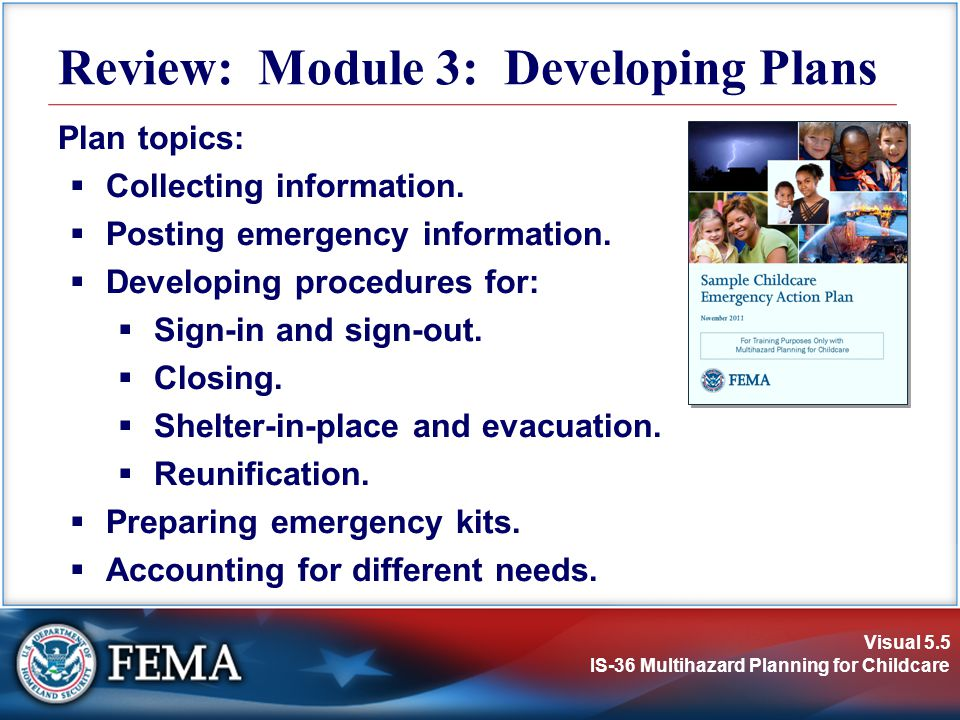 Review: Module 3: Developing Plans