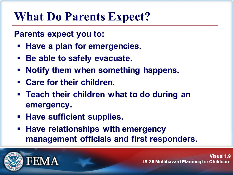 What Do Parents Expect Parents expect you to: