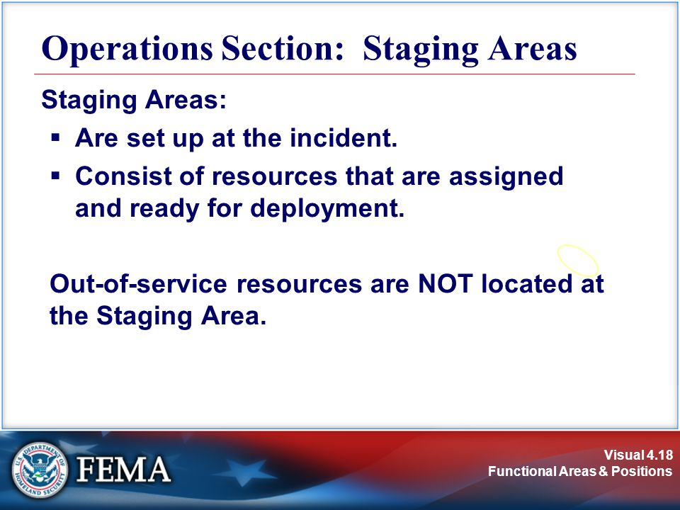 Operations Section: Staging Areas