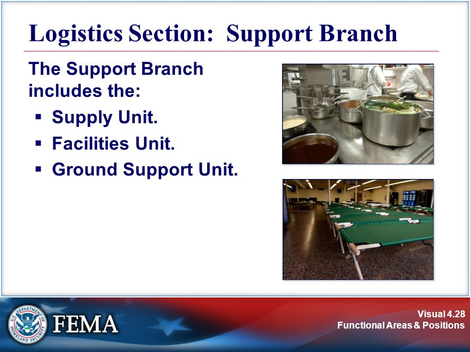 Logistics Section: Support Branch