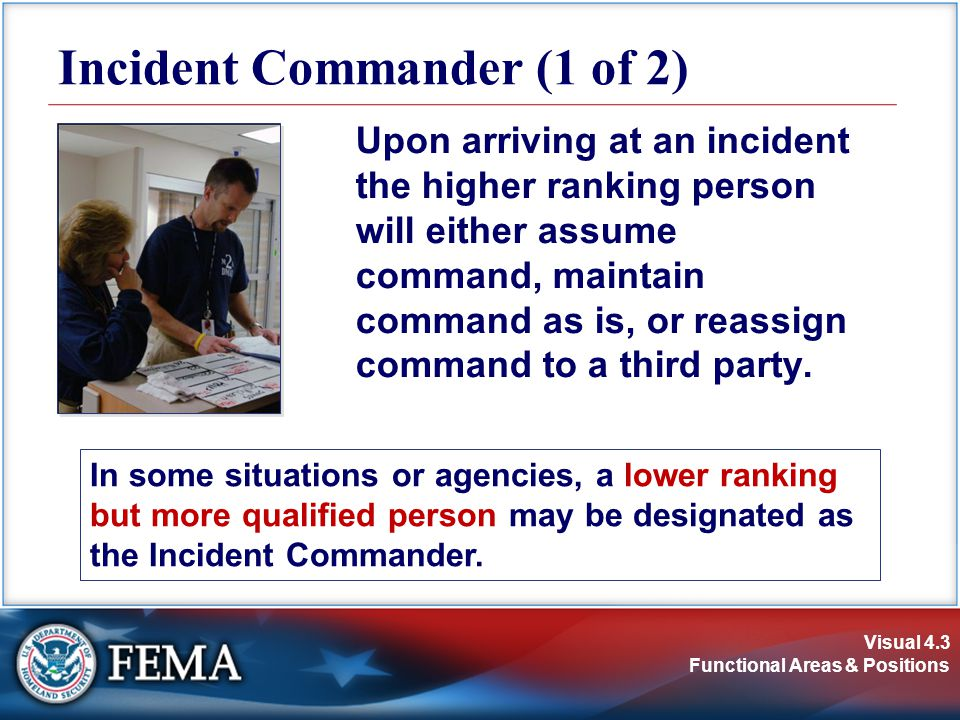 Incident Commander (1 of 2)