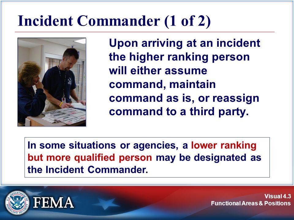 Incident Commander (1 of 2)