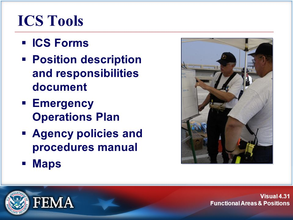 ICS Tools ICS Forms Position description and responsibilities document