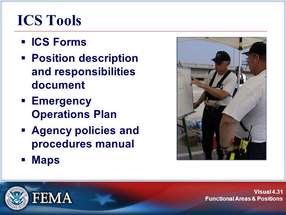 ICS Tools ICS Forms Position description and responsibilities document