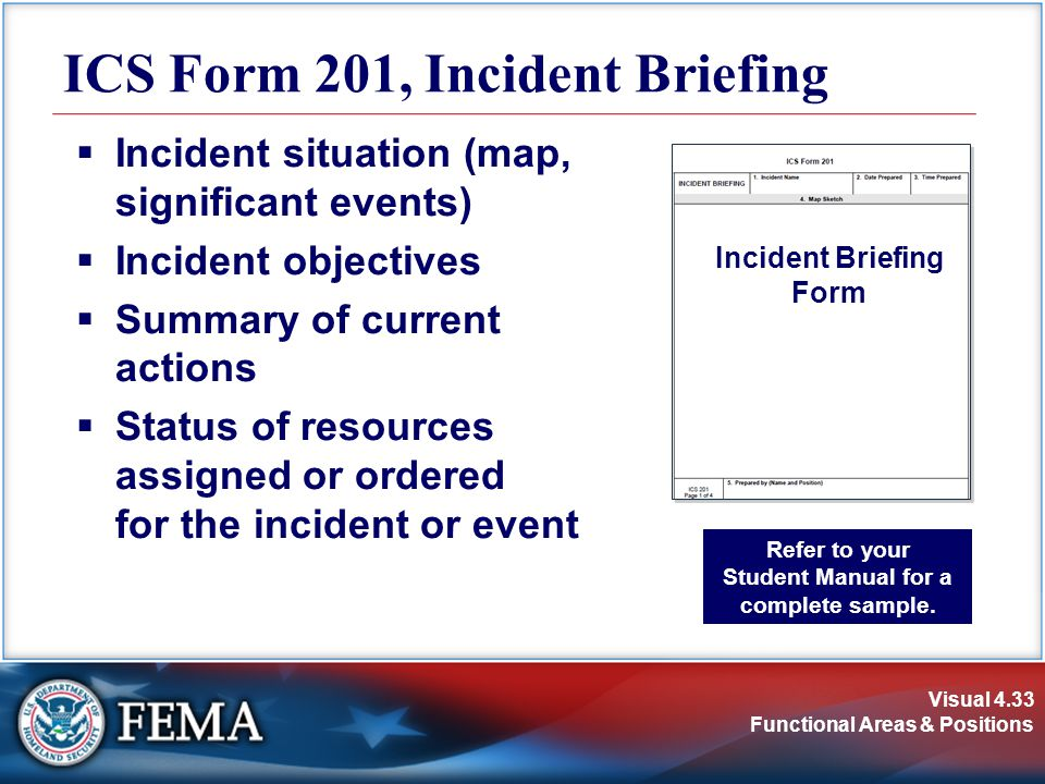 ICS Form 201, Incident Briefing