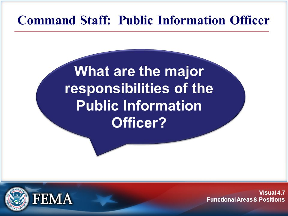 Command Staff: Public Information Officer
