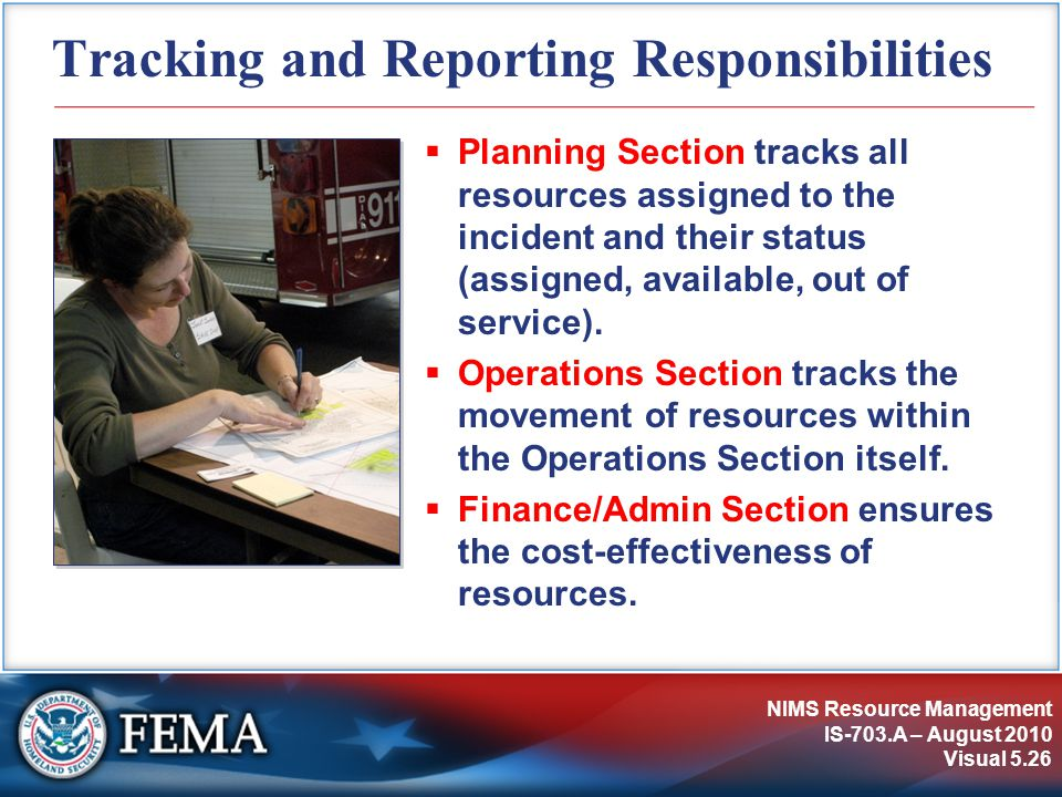 Tracking and Reporting Responsibilities