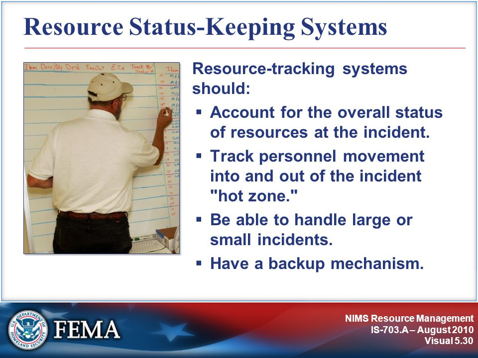 Resource Status-Keeping Systems