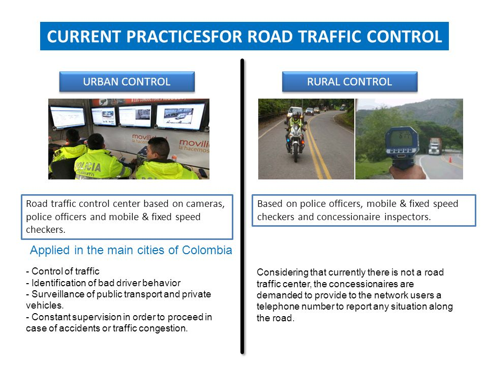 CURRENT PRACTICESFOR ROAD TRAFFIC CONTROL