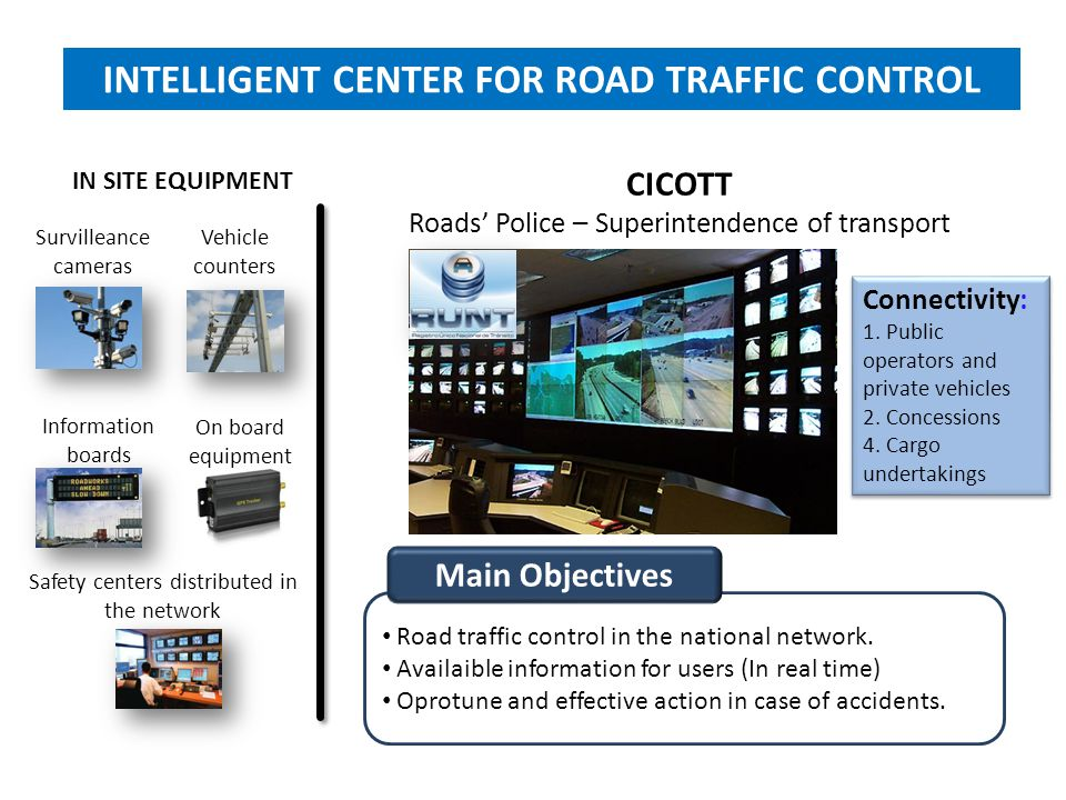 INTELLIGENT CENTER FOR ROAD TRAFFIC CONTROL