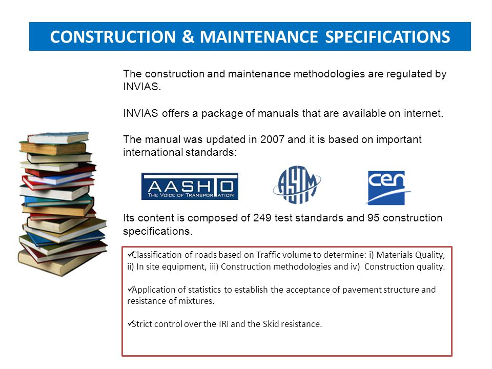CONSTRUCTION & MAINTENANCE SPECIFICATIONS