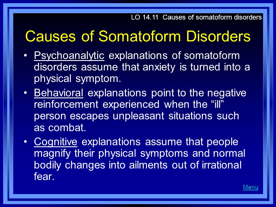 Causes of Somatoform Disorders
