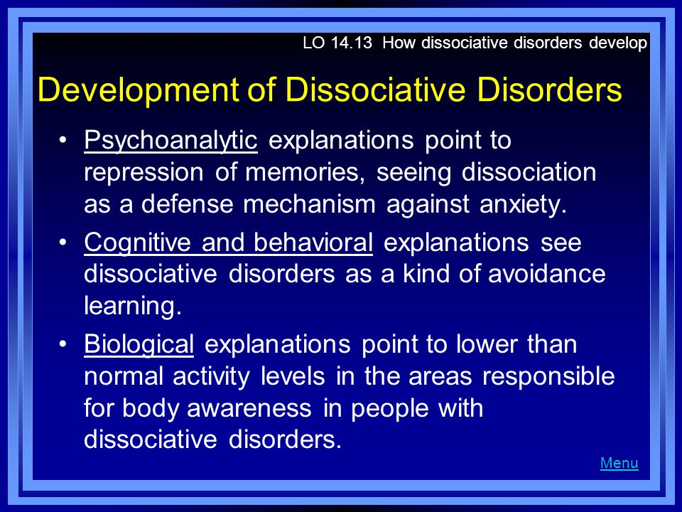 Development of Dissociative Disorders