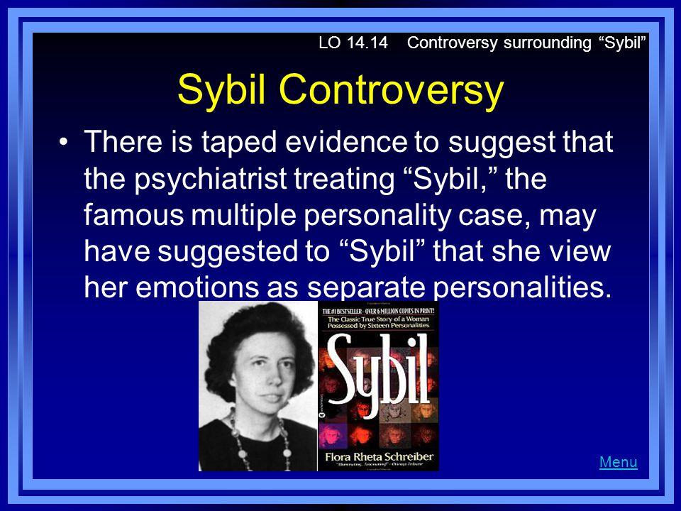 LO 14.14 Controversy surrounding Sybil