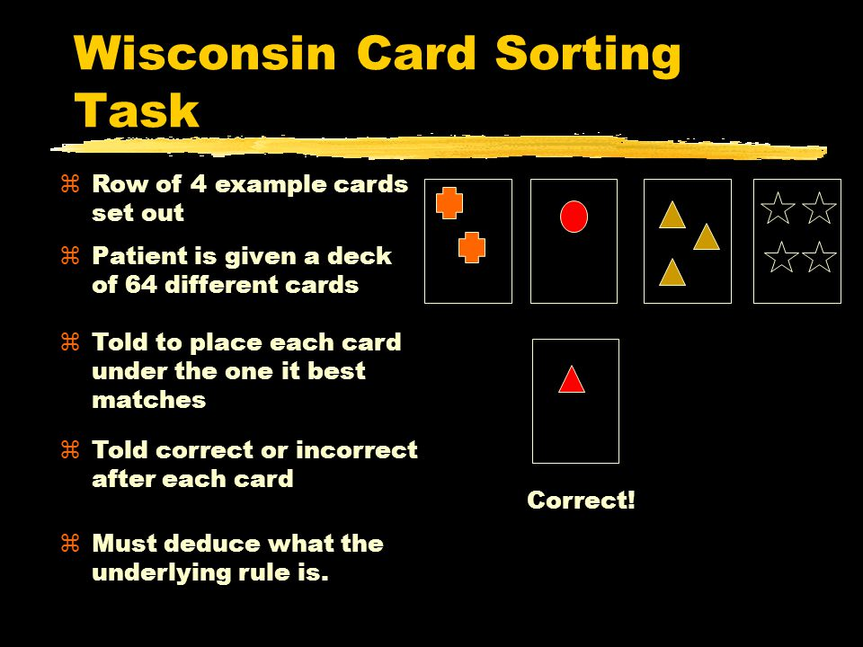 Wisconsin Card Sorting Task