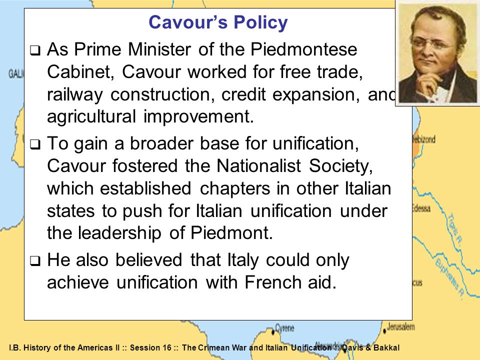 Cavour's Policy
