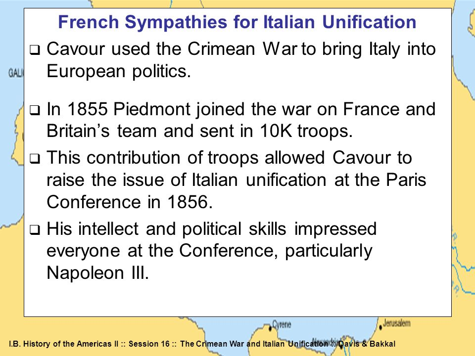 French Sympathies for Italian Unification