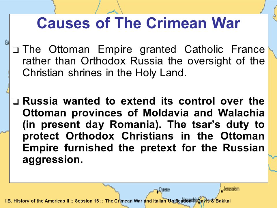 Causes of The Crimean War