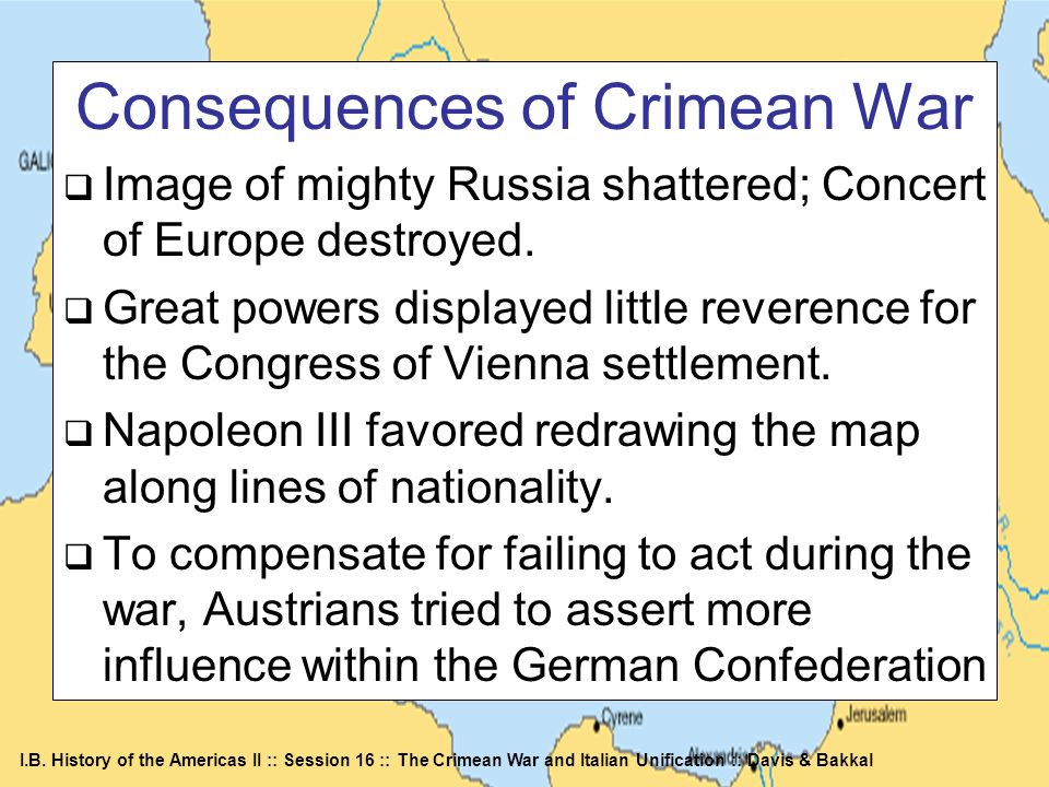 Consequences of Crimean War