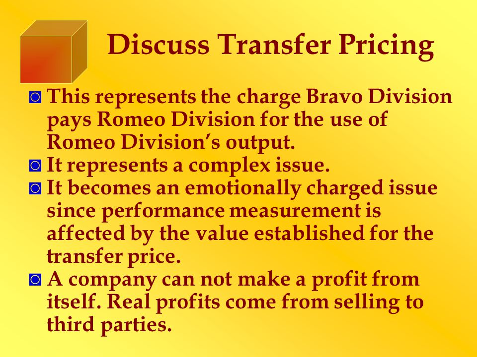 Discuss Transfer Pricing