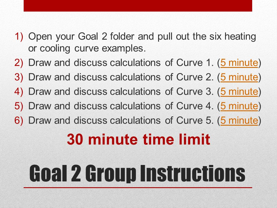 Goal 2 Group Instructions